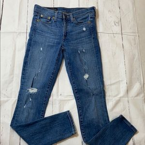 J.Crew mid rise toothpick jeans size 24 [B0113]